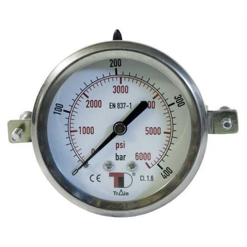 dial pressure gauge / capsule / for air / for vacuum