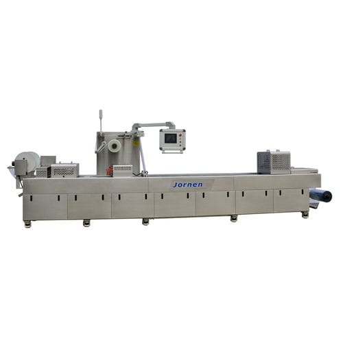 roll-fed thermoformer / for packaging / automated / vacuum