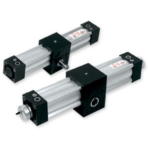 rotary actuator / pneumatic / double-acting / rack-and-pinion
