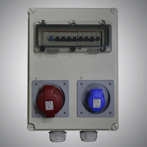 electrical enclosure with electrical socket / equipped / wall-mounted / modular