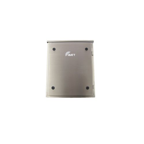 wall-mount enclosure / rectangular / stainless steel / lockable