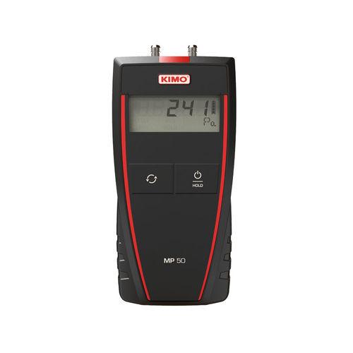 digital pressure gauge / electronic / for HVAC / portable