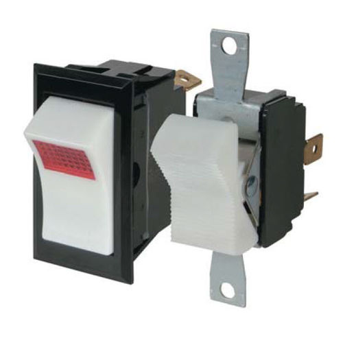 rocker switch / single-pole / illuminated / electromechanical