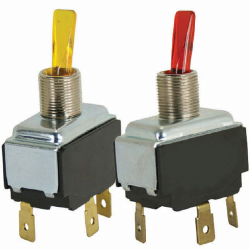 lever switch / single-pole / illuminated / AC