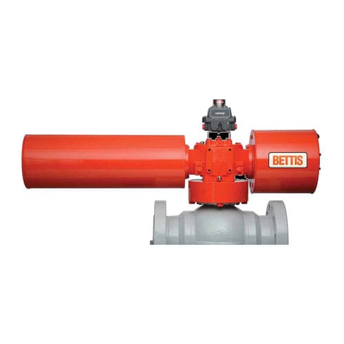 pneumatic valve actuator / rotary / double-acting / spring-return