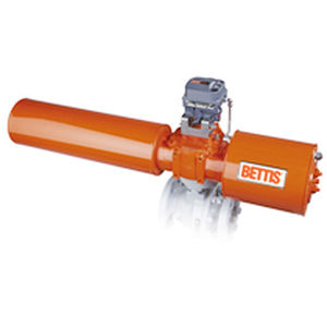 electric valve actuator / rotary / bendable / for control of shut-off