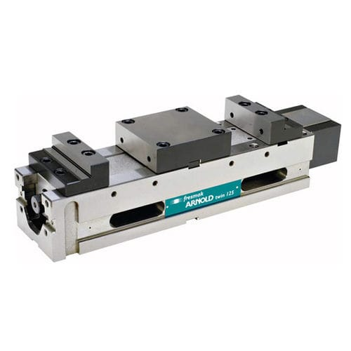 Machine tool vise / for grinding machines / hydraulic / vertical 040 140 ARNOLD TWIN OLEO-DYNAMIC series Fresmak