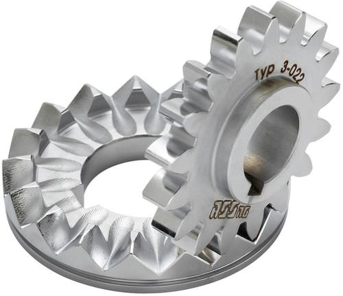 bevel gear / helical-toothed / custom / hub