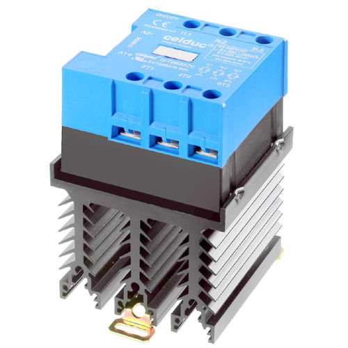 Power contactor / solid-state / three-phase / DIN rail SIT series celduc relais