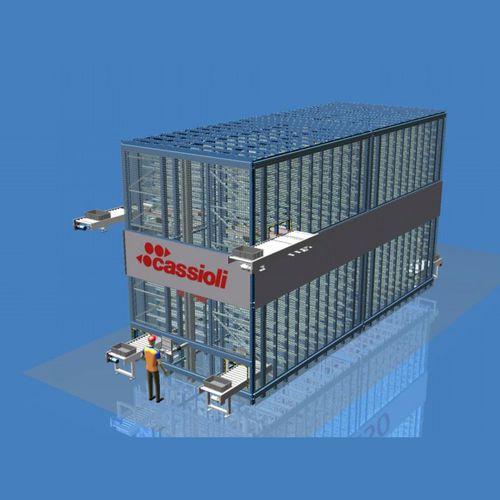 Plastic container automatic warehouse Cartesio Cassioli