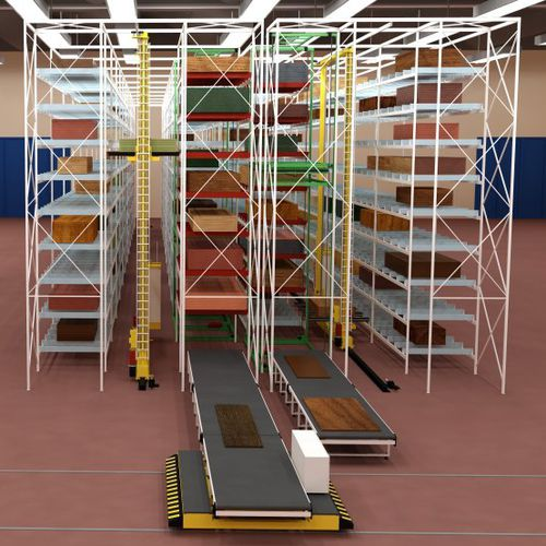 horizontal automatic warehouse / for plates