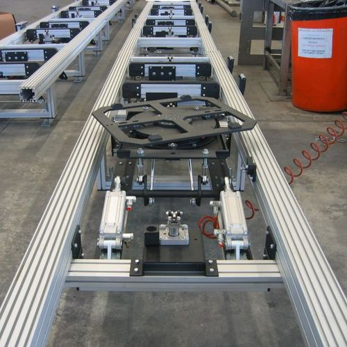 Motor-driven turntable / horizontal / tilting / for conveyors Cassioli
