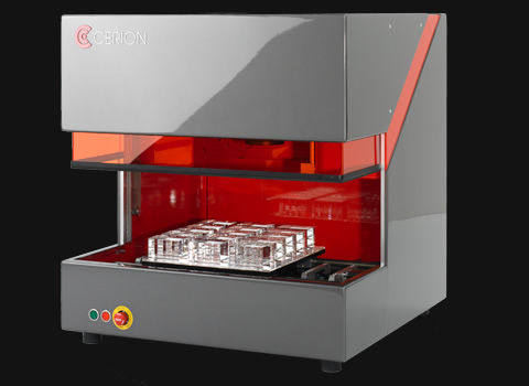 3D laser engraving machine / CO2 laser / for glass