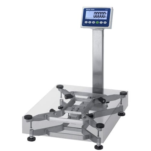 benchtop scale / with LCD display / stainless steel