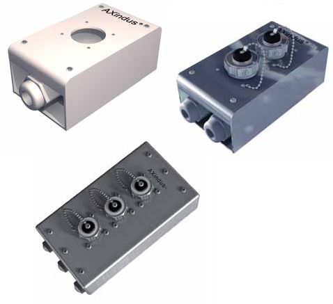 Wall-mounted junction box / steel / waterproof / with cable gland CAE GROUPE