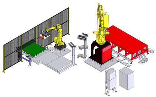 Robotic stacker / brick accessory C010 TECAUMA