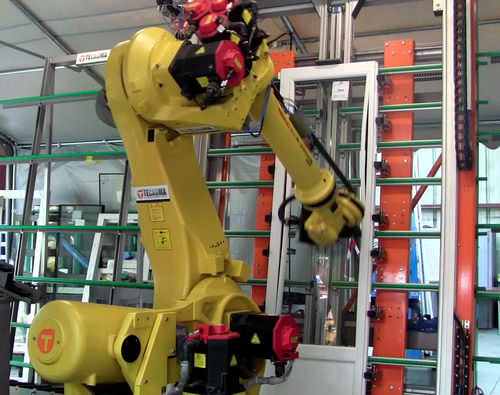 robotic mounting cell / assembly / for glazing