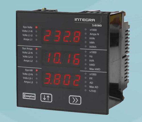 digital multimeter / panel-mount / industrial