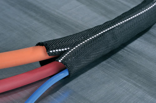 protection sleeve / openable / for cables / polyester