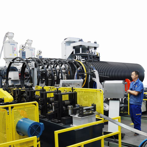 Corrugated pipe extrusion line / for tubes / for steel-plastic composites / for corrugated pipes with integrated tube DN 300-3000, SN16, ASTM F2435-12 Sichuan Goldstone Orient New Material Equipment Co , Ltd