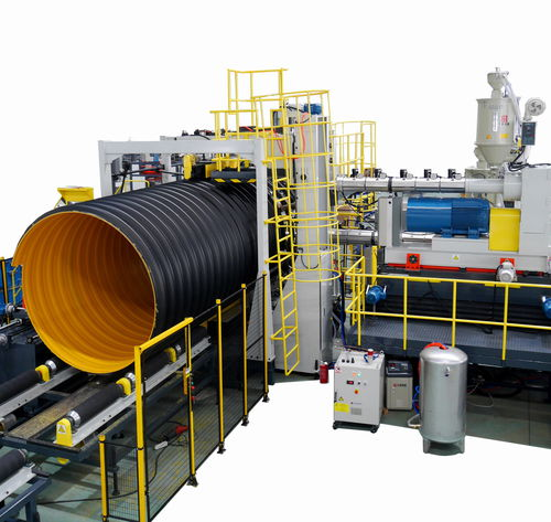 Tube extrusion line / for steel-plastic composites / for corrugated pipe / for drainage pipes DN1800, 2400, 3000 Sichuan Goldstone Orient New Material Equipment Co , Ltd
