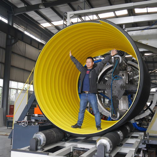 Pipe extrusion line / for steel-plastic composites / 3-layer / for composite pipes TL-800, Max. DN1200, SN16, Steel-Plastic Reinforced Pipe Sichuan Goldstone Orient New Material Equipment Co , Ltd