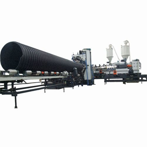Sewage pipe production line / for steel-reinforced pipes / for drainage pipes / for corrugated pipe DN 300-1200, ASTM 2435 Sichuan Goldstone Orient New Material Equipment Co , Ltd
