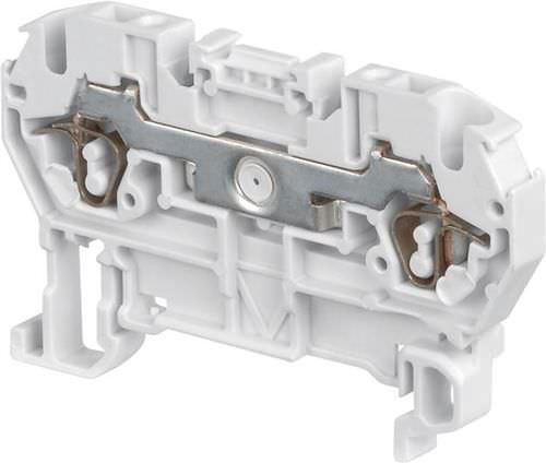 spring terminal block / DIN rail-mounted / fused