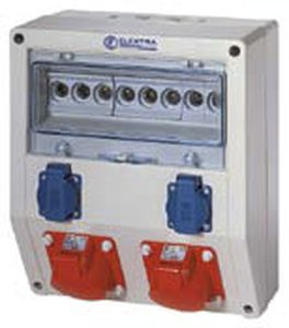 power distribution electrical enclosure / equipped / wall-mounted / plastic