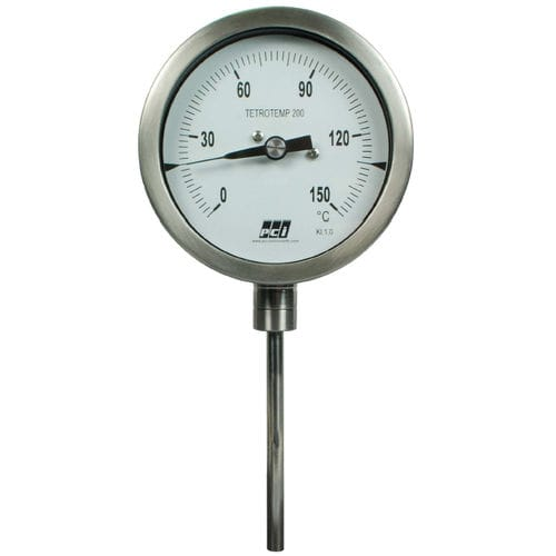 gas expansion with capillary thermometer / analog / insertion / stainless steel