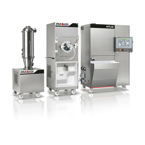 automatic coating machine / for tablets / for pharmaceutical applications