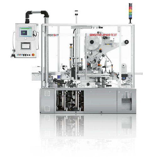 automatic labelling machine / for self-adhesive labels / compact / linear array