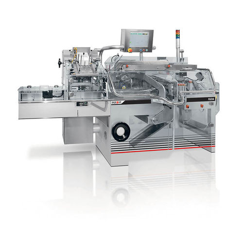 top-loading cartoner / for the medical industry / automatic / intermittent-motion