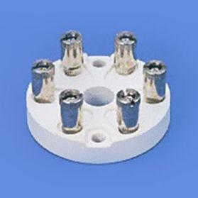 screw connection terminal block / panel-mount / for temperature sensors / ceramic