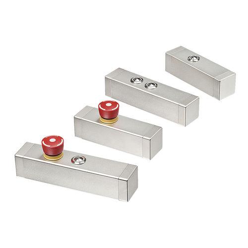 compact enclosure / rack-mount / rectangular / stainless steel