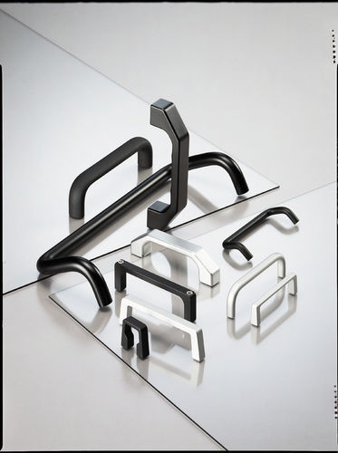 pull handle / door / aluminum / U-shaped