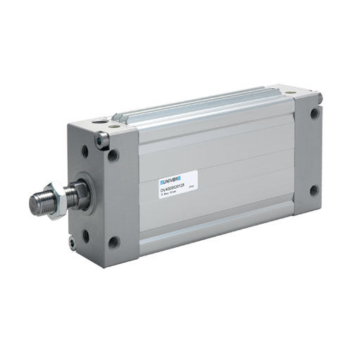 pneumatic cylinder / double-acting / flat