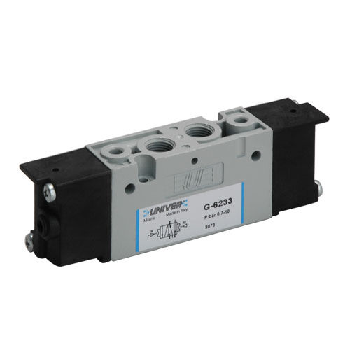 spool pneumatic directional control valve / electrically-operated / 3/2-way / 5/2-way