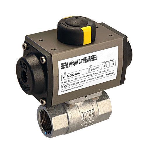 ball valve / pneumatic / brass / with actuator