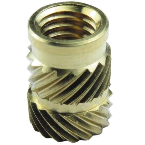 Threaded insert / brass / round / for plastics ISL, ISHK series INSERCO