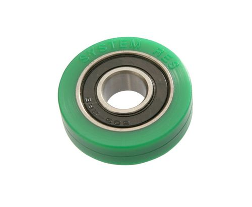 rotational wheel type roller / PU / for inspection machines