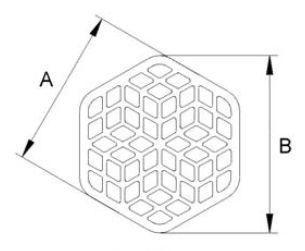 cross-flow filtration diaphragm / surface / ceramic