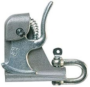 steel draw latch / spring / lever / with constant fastening