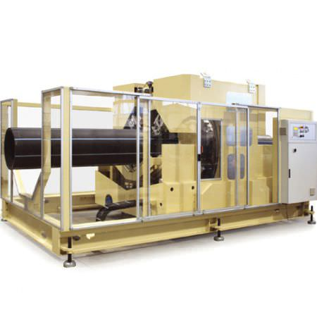 plastic cutting machine / knife / for tubes / CNC