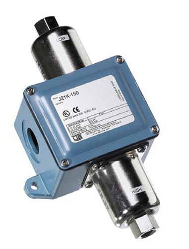 liquid pressure switch / differential / stainless steel / rugged