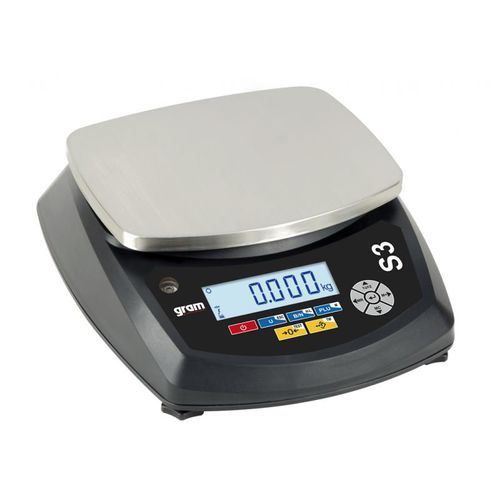 benchtop scale / with LCD display / stainless steel pan / waterproof