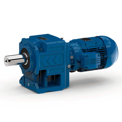 helical electric gearmotor / single-phase / coaxial / spur