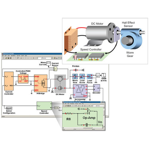 Electronic and mechatronic system design and simulation software SimElectronics® The MathWorks