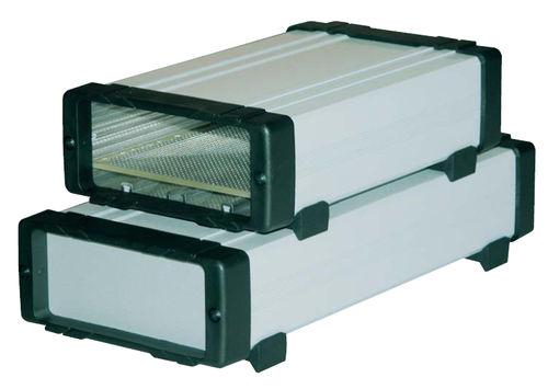 desktop computer enclosure / aluminum / extruded / for instrumentation