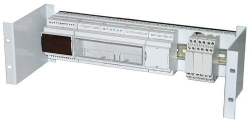 DIN rail enclosure / stainless steel / electronic equipment